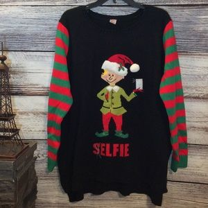 Holiday Time Elf Christmas 3D Sweater